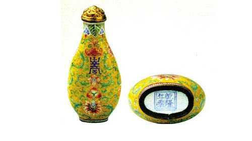 20101113收藏马未都视频和笔记:鼻烟壶,铜胎画珐琅鼻烟壶,金花瓶