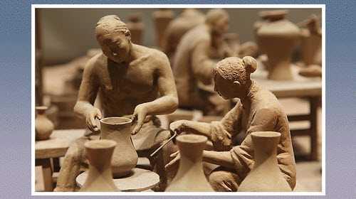 烧制陶器的主要原料:陶土,瓷土和高岭土
