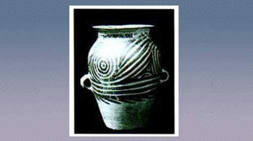 旋涡纹彩陶双耳罐的图片,尺寸,器形和特征