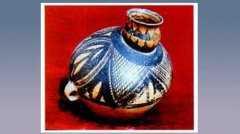 网纹彩陶偏颈壶的图片,尺寸,器形和特征