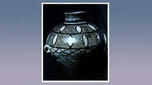 网纹彩陶双耳壶的图片,尺寸,器形和特征