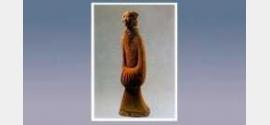 彩绘陶侍主女俑的图片,尺寸,器形,特征和纹饰