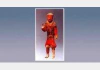彩绘陶盔甲俑的图片,特征,器形,尺寸和纹饰