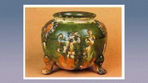 龙纹三彩陶兽足炉的图片,年代,特征,器形,尺寸和纹饰