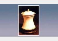 白釉束腰盖罐的图片,尺寸,年代,器形,特征,纹饰