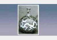青花海水双龙扁瓶的图片,尺寸,年代,器形,特征,纹饰