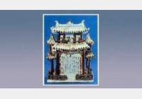 青花釉里红堆塑亭楼式谷仓的图片,尺寸,年代,器形,特征,纹饰