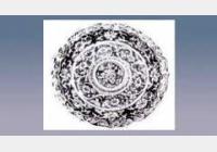 釉里红地白花盏托的图片,尺寸,年代,器形,特征,纹饰
