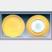 黄釉撇口盘的图片,估价,成交价,尺寸,年代,特征,纹饰