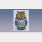 珐琅彩开光山水转颈瓶的图片,尺寸,年代,特征,纹饰,器形