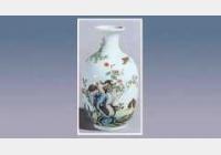 珐琅彩竹菊鹌鹑瓶的图片,尺寸,年代,特征,纹饰,器形