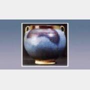 钧窑天青釉紫斑双系罐的图片,估价,成交价,尺寸,年代,特征