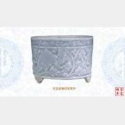 仿龙泉釉印花筒炉的图片,尺寸,年代,特征,纹饰