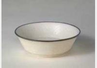 宋定窑白釉刻莲花纹折腰碗的图片,特点,年代,鉴赏,馆藏
