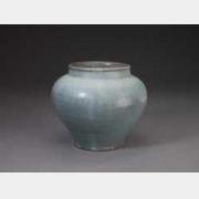 元末明初钧窑天蓝釉罐的图片,特点,年代,鉴赏,馆藏