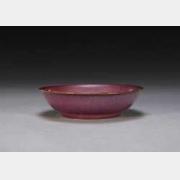 明仿钧玫瑰紫釉盘的图片,特点,年代,鉴赏,馆藏