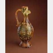 唐三彩凤首壶的图片,特点,年代,鉴赏,馆藏