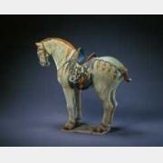 唐三彩马(低首)的图片,特点,年代,鉴赏,馆藏