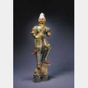 唐三彩镇墓兽的图片,特点,年代,鉴赏,馆藏