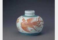 清康熙斗彩红龙凤盖罐的图片,特点,年代,鉴赏,馆藏