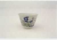 清嘉庆斗彩花卉酒杯的图片,特点,年代,鉴赏,馆藏