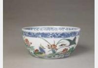 清乾隆斗彩鸳鸯卧莲碗的图片,特点,年代,鉴赏,馆藏