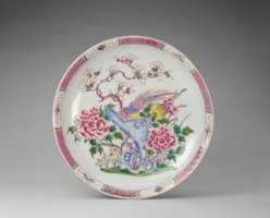 清雍正粉彩雉鸡牡丹纹盘的图片,特点,年代,鉴赏,馆藏