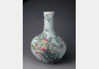 清乾隆粉彩九桃瓶的图片,特点,年代,鉴赏,馆藏