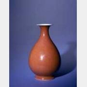 清同治霁红釉玉壶春瓶的图片,特点,年代,鉴赏,馆藏