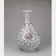 明洪武釉里红缠枝莲纹玉壶春瓶的图片,特点,年代,鉴赏,馆藏