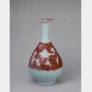 元釉里红地白花暗刻牡丹纹玉壶春瓶的图片,特点,年代,鉴赏