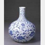 明宣德青花缠枝花纹天球瓶的图片,特点,年代,鉴赏,馆藏