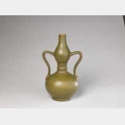 清乾隆厂官釉绶带耳葫芦瓶的图片,特点,年代,鉴赏,馆藏