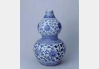 明成化青花缠枝莲纹葫芦瓶的图片,特点,年代,鉴赏,馆藏