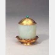 清金盖托白玉杯的图片,特点,年代,鉴赏,馆藏