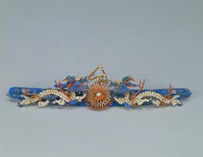 清银镀金嵌珠双龙点翠长簪的图片,特点,年代,鉴赏,馆藏