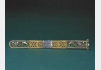 清金镂空嵌珠石扁方的图片,特点,年代,鉴赏,馆藏