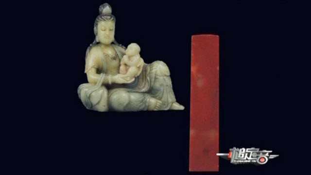 昌化极品鸡血石大红袍,清芙蓉石雕送子观音