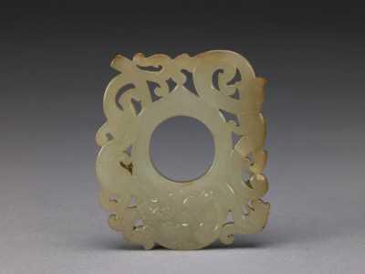 汉玉螭纹�s形佩的图片,特点,年代,鉴赏,馆藏