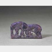 汉虎食羊铜饰牌的图片,特点,年代,鉴赏,馆藏