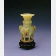 清黄玉三羊尊的图片,特点,年代,鉴赏,馆藏