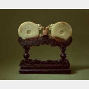 清黄玉双联璧的图片,特点,年代,鉴赏,馆藏