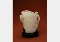 清中期白玉夔龙纹蟠螭觥的图片,特点,年代,鉴赏,馆藏