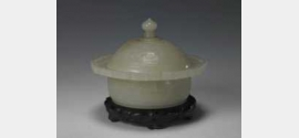 清白玉夔龙纹唾盂的图片,特点,年代,鉴赏,馆藏