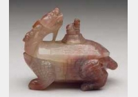 清粉红玛瑙龟式小水盛的图片,特点,价格,鉴赏,馆藏