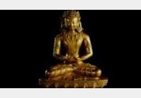 铜镏金嵌宝无量寿佛坐像
