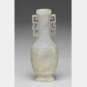 清青玉双耳凤纹小瓶的图片,特点,价格,鉴赏,馆藏