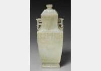 清乾隆青玉龙纹方瓶的图片,特点,价格,鉴赏,馆藏