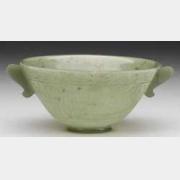 清青玉双耳碗(鄂图曼帝国耳形双柄碗)的图片,特点,价格,鉴赏
