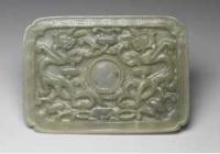 明中晚期玉龙纹托盘的图片,特点,价格,鉴赏,馆藏